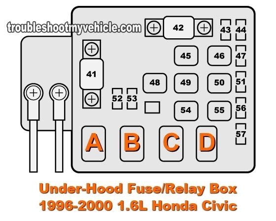 Similiar 99 Honda Civic Hx Fuse Layouts Keywords within Honda Civic 2000 Fuse Box Diagram