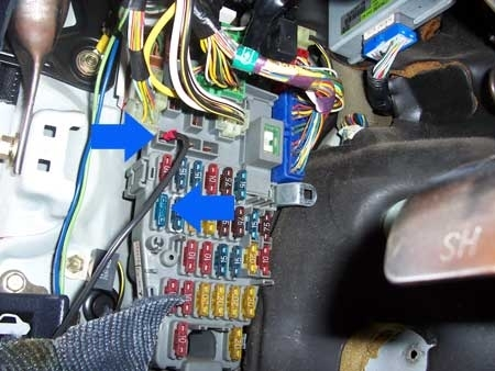 Stealth Car Alarm Install - 2Nd Generation Acura Integra Da throughout Connecting Wire To Fuse Box