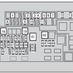 Toyota 4Runner Fifth Generation (N280) (From 2013) – Fuse Box with Toyota 4Runner Fuse Box
