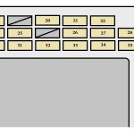 Toyota Corolla Mk10 (10Th Generation; 2007 – 2008) – Fuse Box regarding 2007 Toyota Corolla Fuse Box Diagram