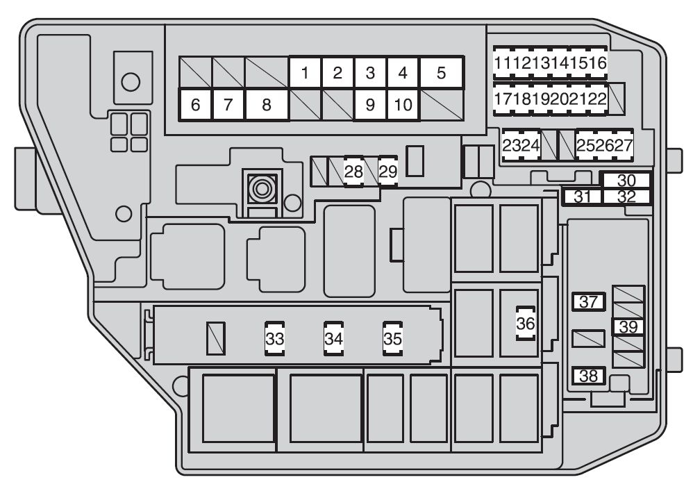 Toyota Corolla Mk10 (10Th Generation; 2009 – 2012) – Fuse Box regarding Toyota Corolla Fuse Box