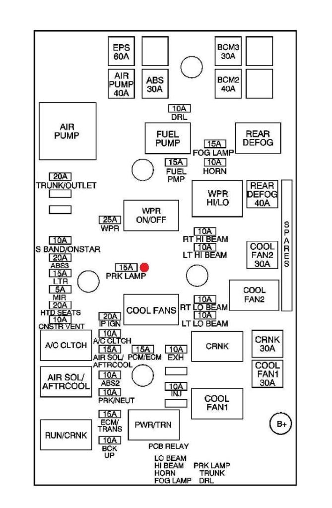 2006 chevy cobalt fuse box diagram