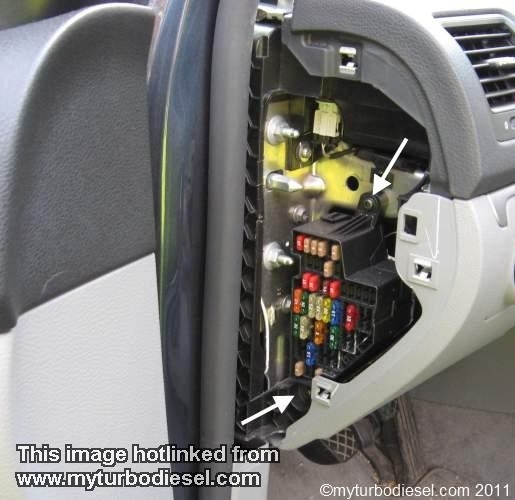 Vwvortex - 2010 Jetta Fusebox Location within 2010 Volkswagen Eos Fuse Box