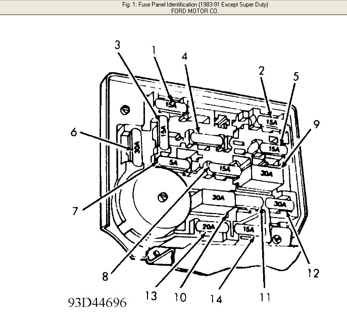 Where Can I Get A Ford Fuse Box Diagram For A 1986 Ford F-150 with 1986 Ford F150 Fuse Box Diagram
