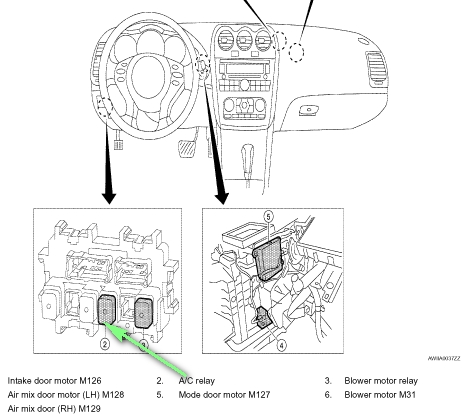 Where Is The Ac  pressor Relay Located On A Altima Nissan Pertaining To 2009 Nissan Altima Fuse Box on ac motor parts diagram