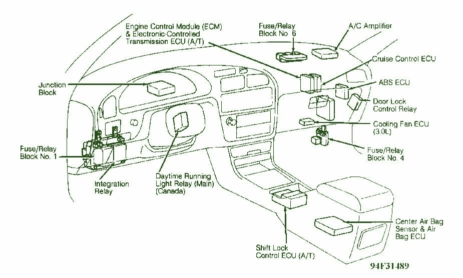 Wiring Diagram For 1998 Toyota Camry – Ireleast intended for 98 Toyota Camry Fuse Box