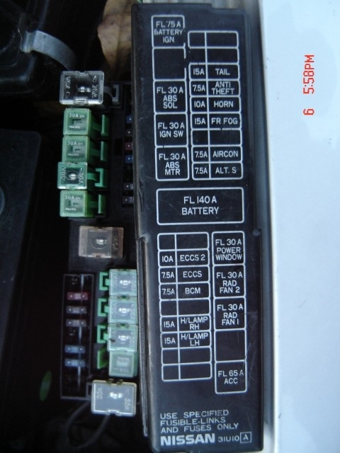 2001 Nissan Altima Fuse Box