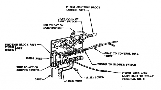 1956 chevrolet fuse panel diagram