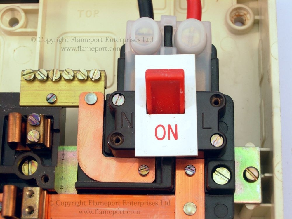 Wylex Standard White Plastic Fuseboxes inside Main Switch On Fuse Box