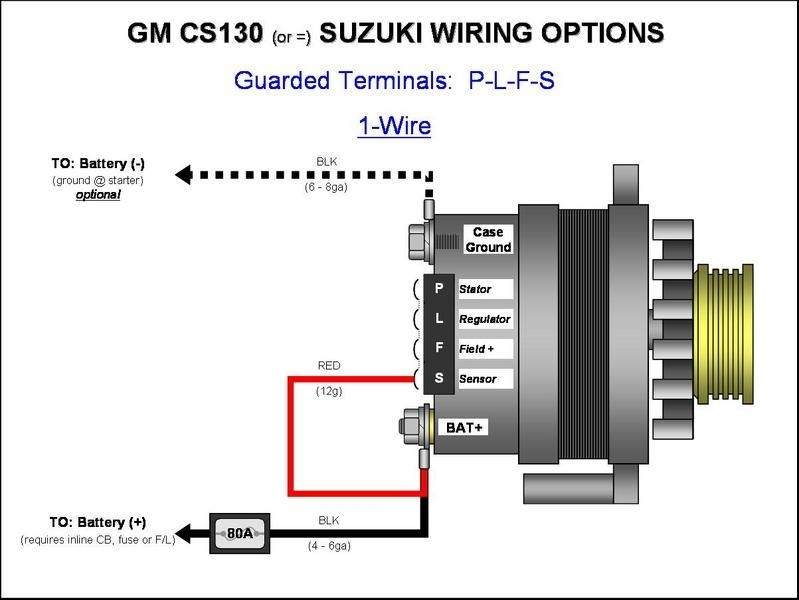 10 Si Alternator Wiring Diagram Si To Cs Alternator Conversion intended for Gm 3 Wire Alternator Wiring Diagram