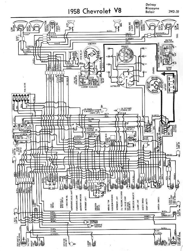 1958 Chevrolet Wiring Diagrams - 1958 Classic Chevrolet throughout 1962 Chevy Impala Wiring Diagram