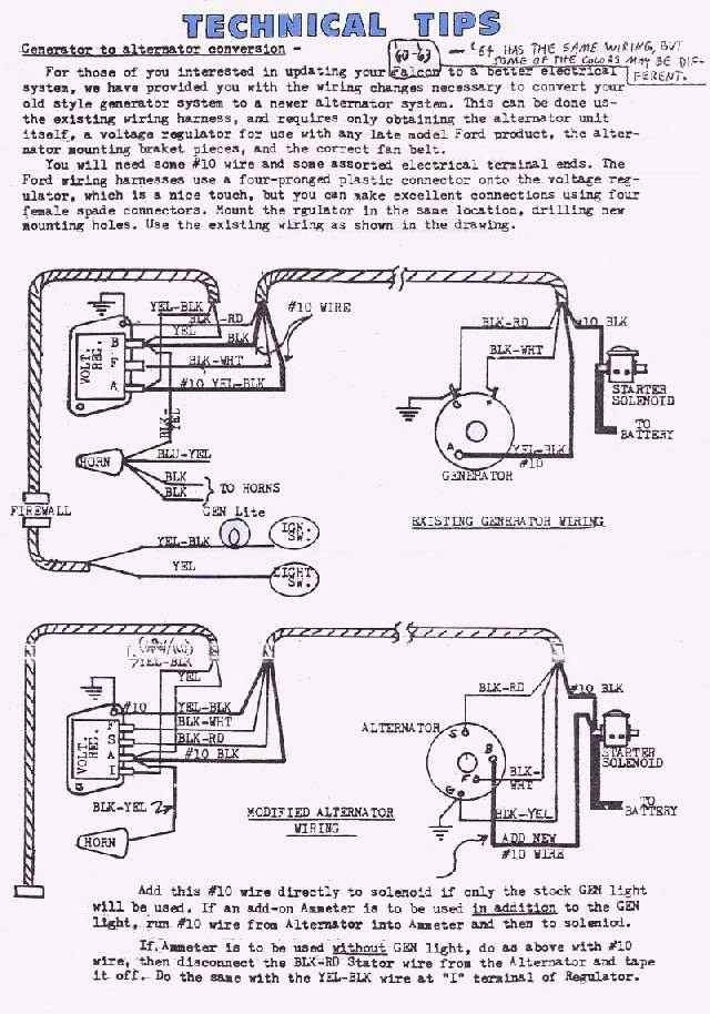 Wiring Diagram Replace Generator With Alternator : Ford falcon wiring diagram on images free