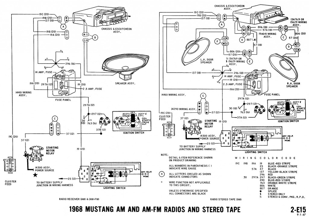 1965 mustang wiring diagram