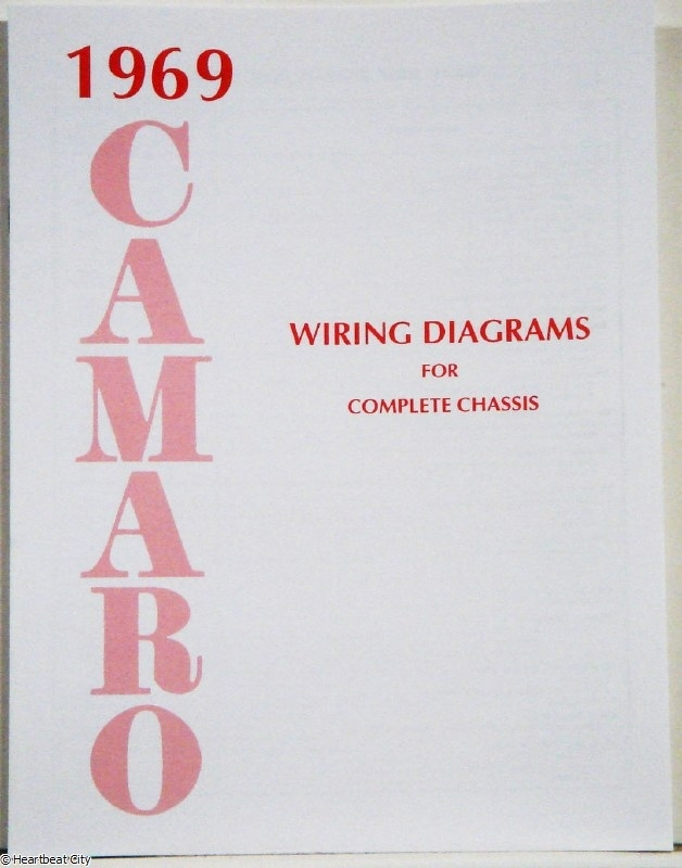 1969 Camaro Factory Wiring Diagram Manual High Quality! Printed In pertaining to 1969 Camaro Wiring Diagram