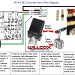 1974-1982 Corvette Horn Circuit Wire Diagram | Willcox Corvette, Inc. with 1974 Corvette Engine Wiring Diagram
