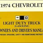 1974 Chevrolet Pickup/blazer/suburban Wiring Diagram Manual Reprint pertaining to 1974 Chevy Pickup Wiring Diagram