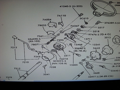 1977 F100 Steering Column Rebuild, Help! - Ford Truck Enthusiasts within 1974 Bronco Steering Column Schematic