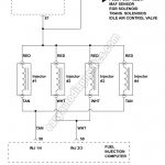 1992-1994 2.3L Ford Ranger Fuel Injector Wiring Diagram for Fuel Injector Wiring Diagram
