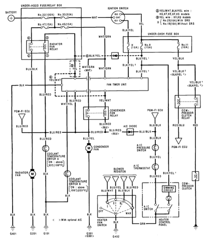 1992 Honda Prelude Air Conditioner Electrical Circuit And Schematics in 2001 Honda Prelude Wiring Diagram