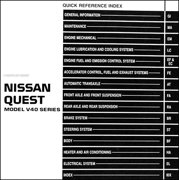 1994-1995 Nissan Quest Van Repair Shop Manual Original throughout 2006 Nissan Quest Wiring Diagram
