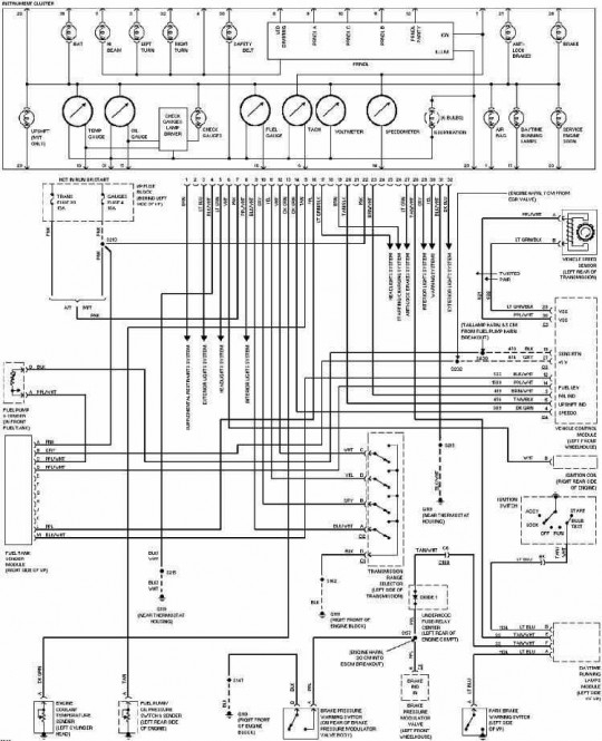 1996 chevy 1500 pickup wiring diagram  chevrolet