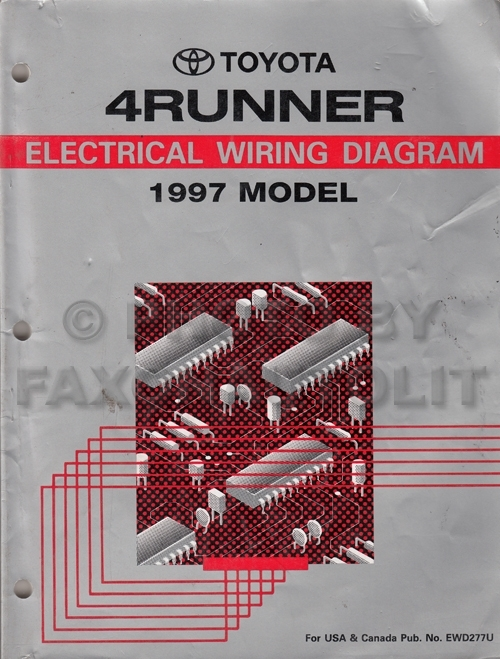 1997 Toyota 4Runner Wiring Diagram Manual Original with regard to 1997 Toyota 4Runner Wiring Diagram