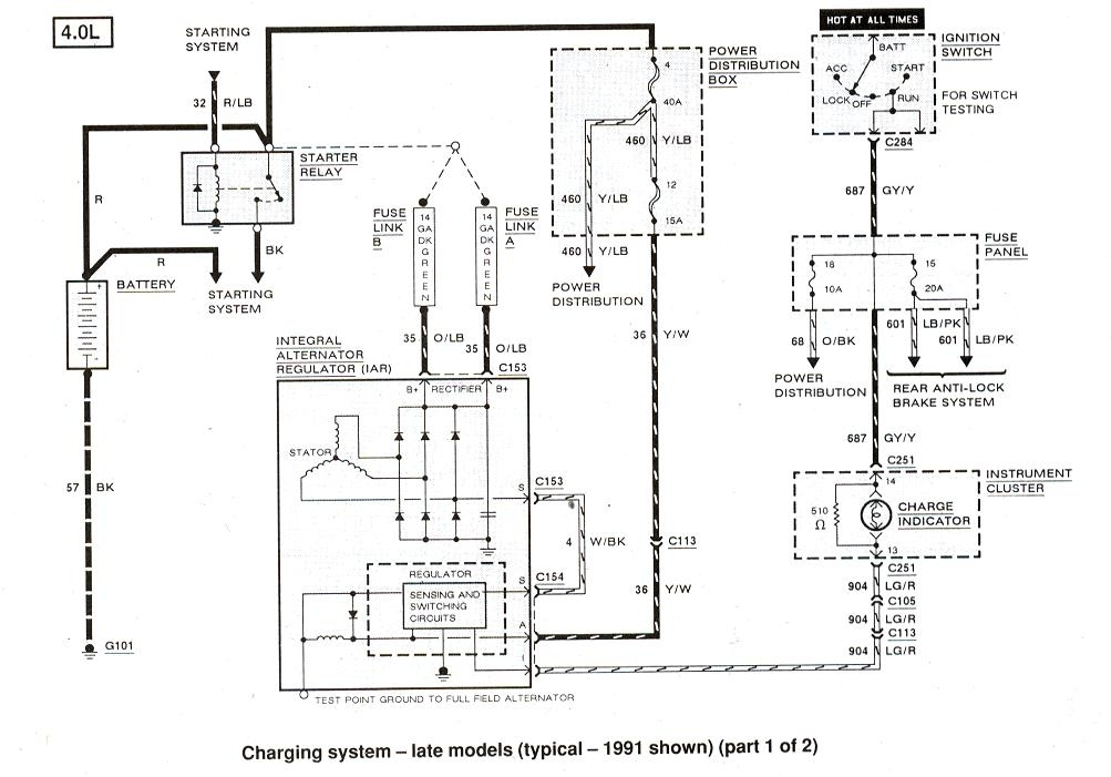 1998 ford ranger radio wiring diagram
