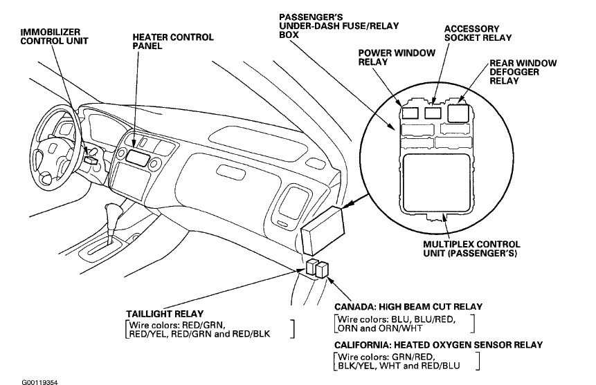 2001 honda accord tail lights wiring diagram