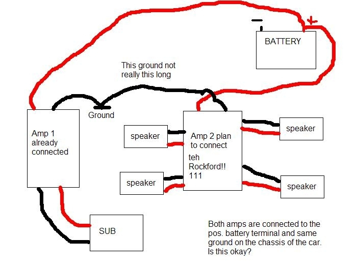 Multiple Car Amplifier Wiring Diagram