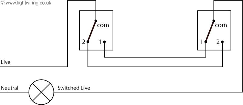 2 Way Switch Wiring Diagram | Light Wiring for Lighting 2 Way Switching Wiring Diagram