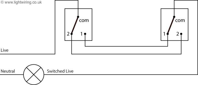 2 Way Wiring Diagram For A Light Switch inside Light Switch 2 Way Wiring Diagram