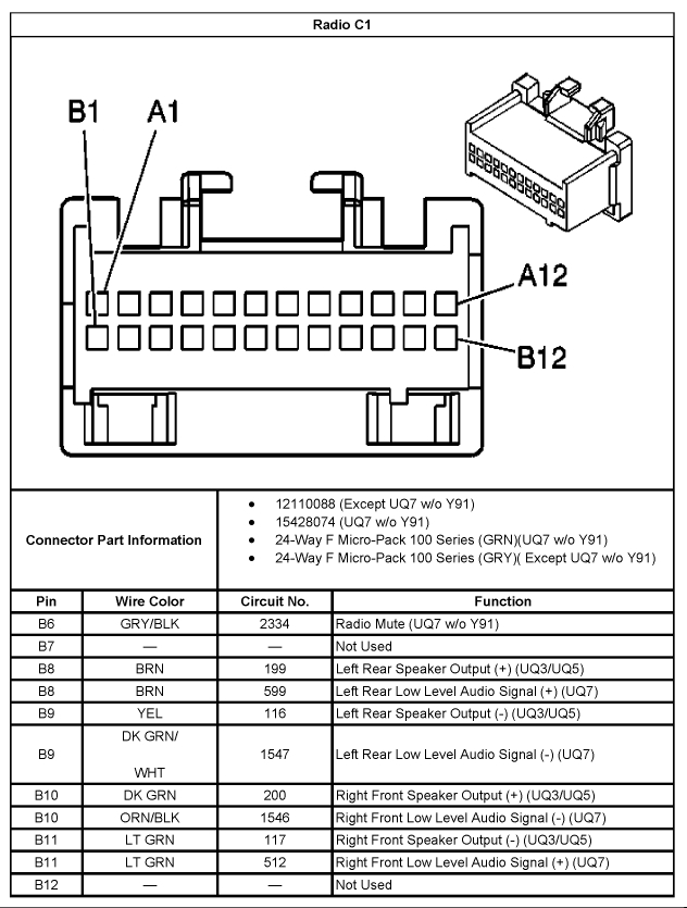 2004 Chevy Silverado Radio Wiring Diagram. 2004. Free Wiring Diagrams regarding 2004 Chevy Silverado Wiring Diagram