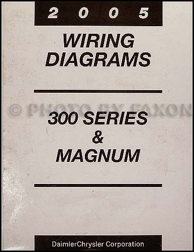 2005 Chrysler 300 Dodge Magnum Wiring Diagram Manual Original in 2005 Chrysler 300 Wiring Diagram
