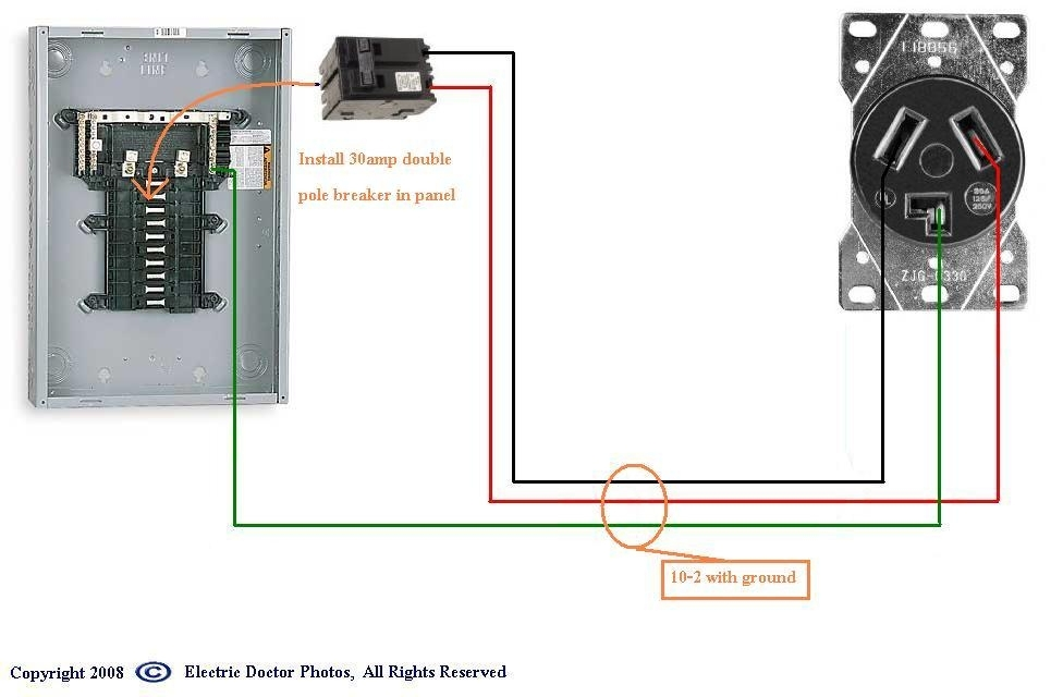 220 Outlet Wiring Diagram throughout 220 Wiring Diagram