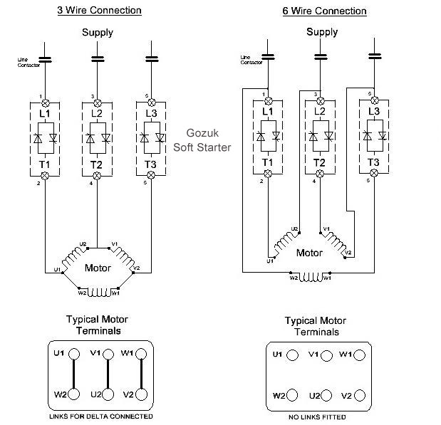 3 Phase Motor Wiring Diagram 6 Wire Six Leadtwo Speed Motor inside Motor Wiring Diagram