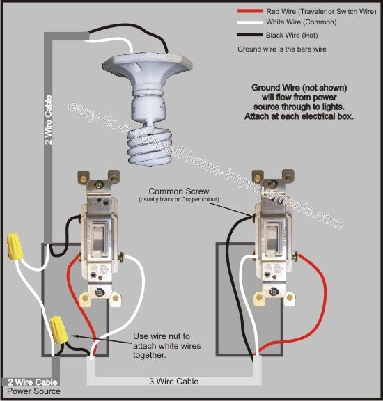 3 Way Switch Wiring Diagram intended for 3 Way Switch Wiring Diagram Multiple Lights