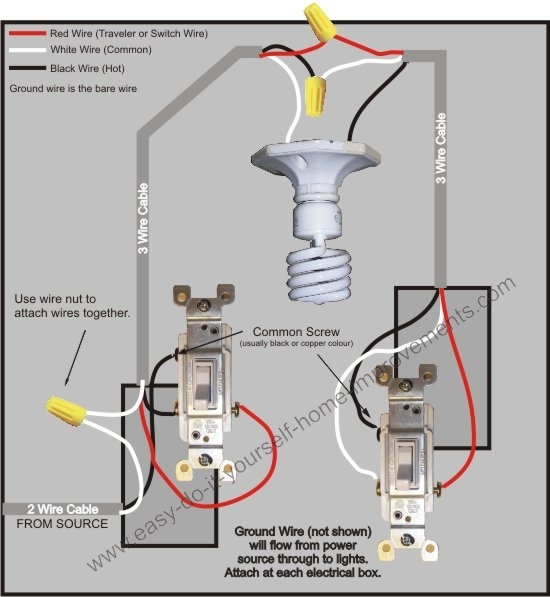 3 Way Switch Wiring Diagram pertaining to How To Wire A 3 Way Switch Diagram