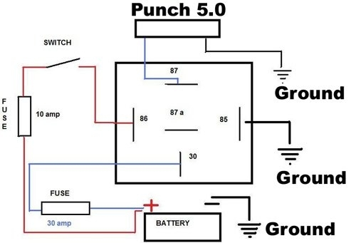 30 Amp Relay Wiring Diagram. Wiring. Electrical Wiring Diagrams regarding 12V 30 Amp Relay Wiring Diagram