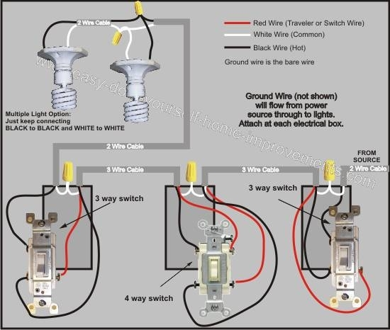 4 Way Switch Wiring Diagram within Four Way Switch Wiring Diagram