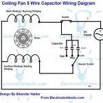 5 Wire Ceiling Fan Capacitor Wiring Diagram in Electric Motor Wiring Diagram Capacitor