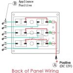 6 Gang Led Toggle Switch Panel 15A Blade Fuses - Waterproof/marine intended for 12V  sc 1 st  Fuse Box And Wiring Diagram : 12v switch panel wiring diagram - yogabreezes.com
