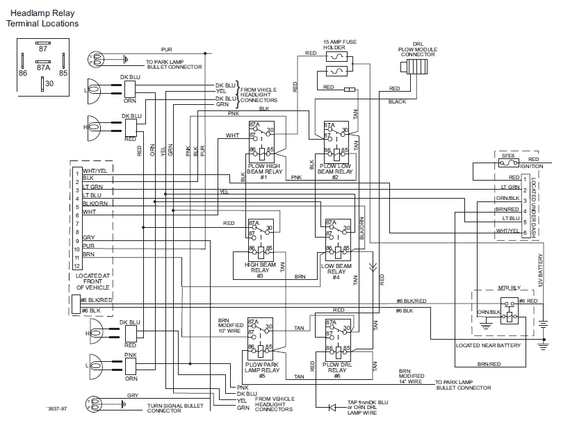 63392 Western Unimount 99-02 Chevy Gmc Hb3-Hb4 9 Pin Control within Arctic Snow Plow Wiring Diagram