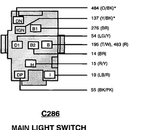 93 Ford Ranger: Coded..wiring Diagram For Wiring Harness..head Light with Ford Ranger Wiring Harness Diagram