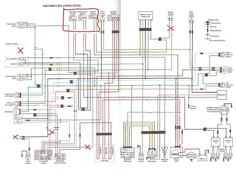 A Couple Wiring Questions + Modified Diagram intended for Cb750 Wiring Diagram