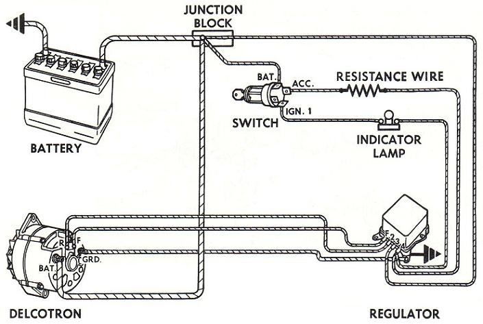 Alternator Wiring Diagrams And Information - Brianesser within Delco Alternator Wiring Diagram