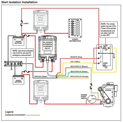 An Explanation Of The Start Isolation Feature On Blue Sea Systems inside Blue Sea Wiring Diagram