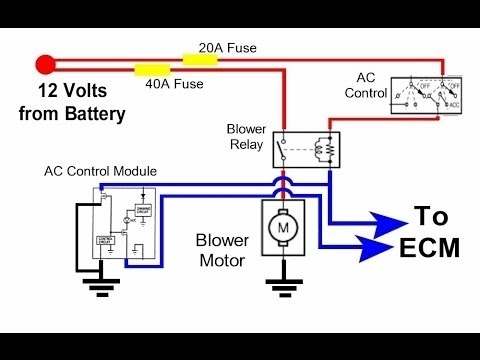 Auto Hvac Condenser Fan Circuit - Youtube intended for Ac Condenser Fan Motor Wiring Diagram