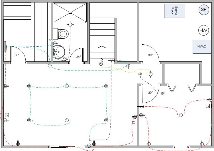 basement finish wiring diagram electrical diy chatroom With wiring basement diy