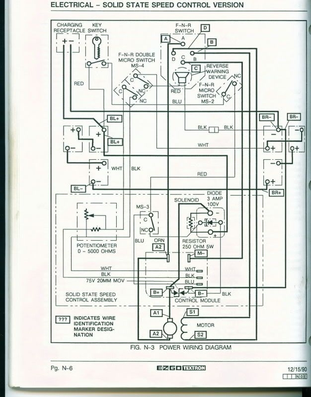 1984 Ez Go Gas Golf Cart Wiring Diagram : Ez go gas golf cart wiring diagram fuse box and