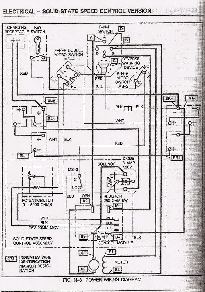 Basic Ezgo Electric Golf Cart Wiring And Manuals regarding Ez Go Electric Golf Cart Wiring Diagram